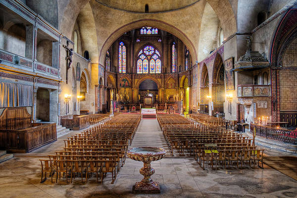Photograph - Cathedrale Saint-etienne Interior / Cahors by Barry O Carroll
