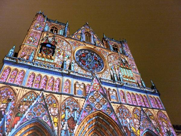 Photograph - Cathedrale Saint-jean Illuminee by Marc Philippe Joly
