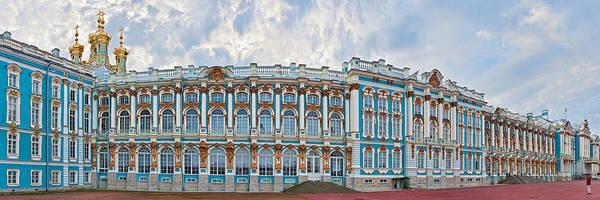 High Dynamic Range Imaging Photograph - Catherine Palace Courtyard, Tsarskoye by Panoramic Images