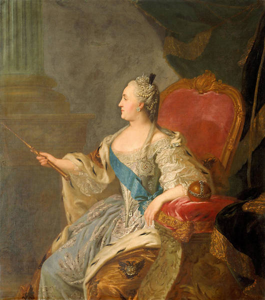 Orb Photograph - Catherine The Great, 1763 Oil On Canvas by Fedor Stepanovich Rokotov