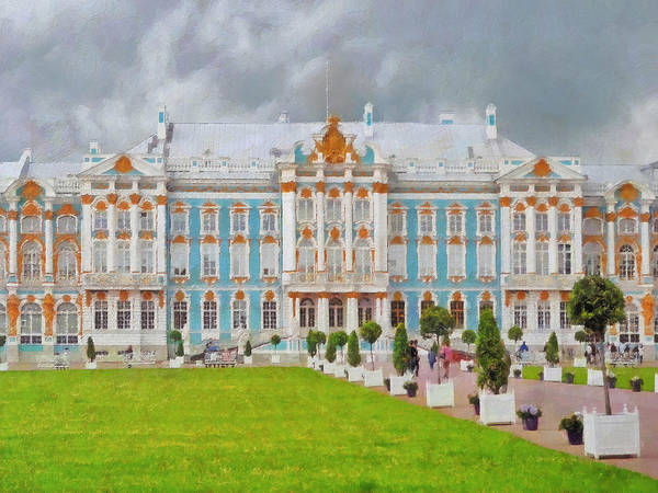 Digital Art - Catherine's Palace In Saint Petersburg by Digital Photographic Arts