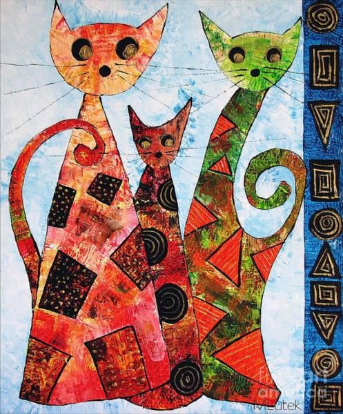 Computer Graphics Painting - Cats 737 - Marucii by Marek Lutek