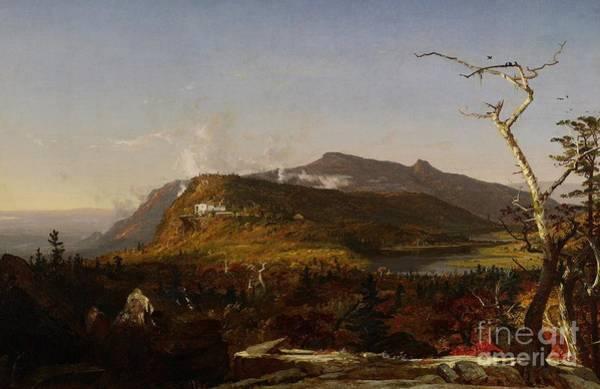 Catskills Painting - Catskill Mountain House by Jasper Francis Cropsey