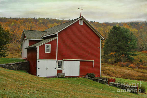 Photograph - Catskill Red Barn by Deborah Benoit