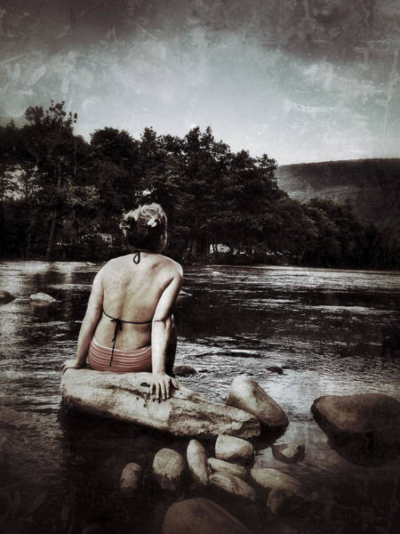 Catskills Photograph - Catskills Contemplation Grunged by Natasha Marco