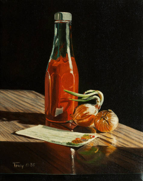 Catsup Painting - Catsup With Recipe Card by Robert Tracy