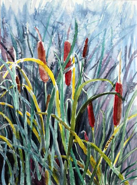 Painting - Cattails by Richard Jules