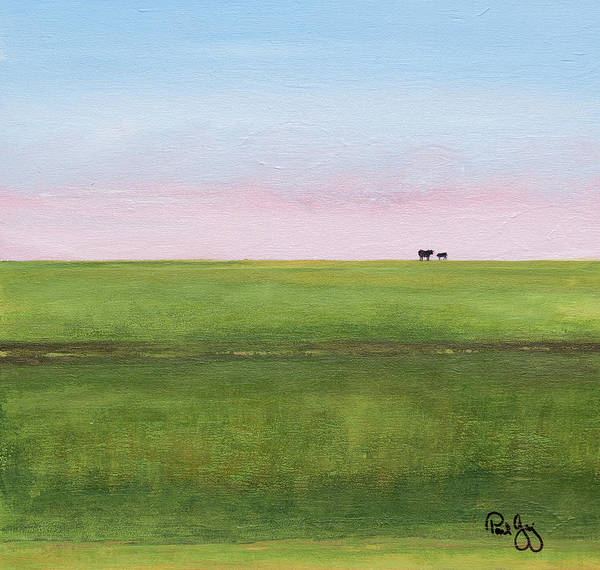 Painting - Cattle On The Levee by Paul Gaj