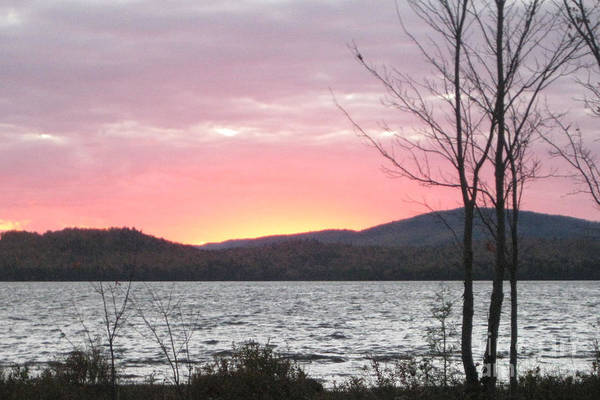 Photograph - Caucomgomoc Lake Sunset In Maine by Stella Sherman