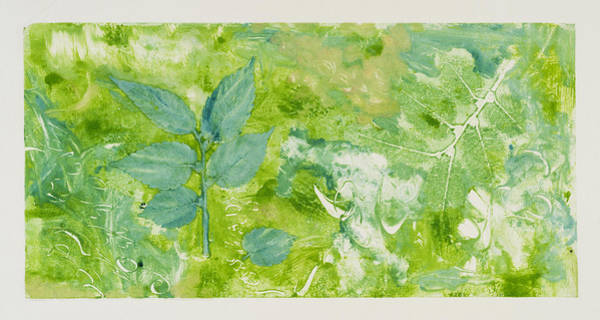 Monotype Mixed Media - Flow by Susan Richards