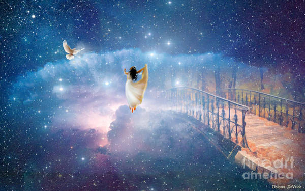 Dove Digital Art - Caught Up by Dolores Develde