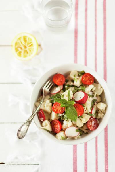 Lemon Photograph - Cauliflower Salad by Alena Kogotkova