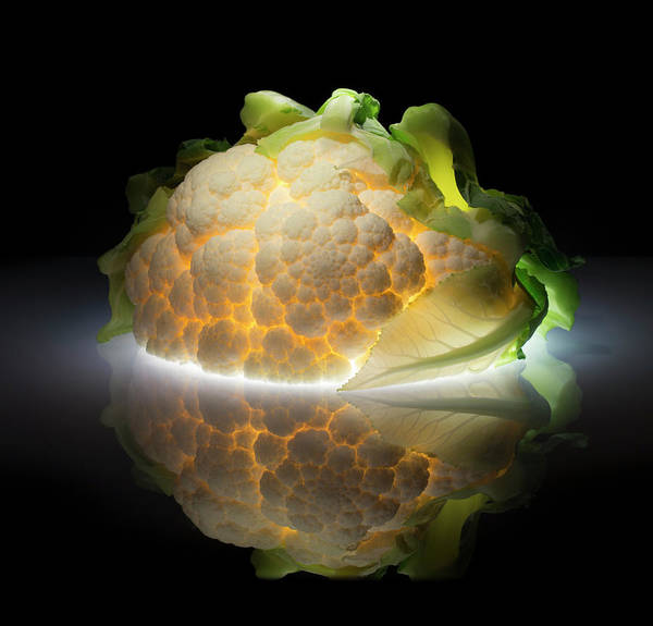 Green Vegetable Photograph - Cauliflower by Wieteke De Kogel