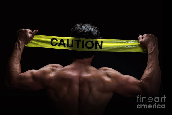 Physique Photograph - Caution by Jane Rix