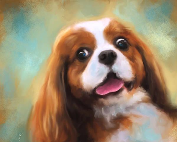Painting - Cavalier King Charles Spaniel by Jai Johnson