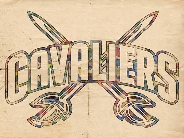 Slamdunk Painting - Cavaliers Poster Retro by Florian Rodarte