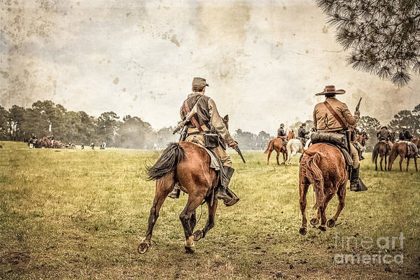 Photograph - Cavalry On The Move by Kim Henderson