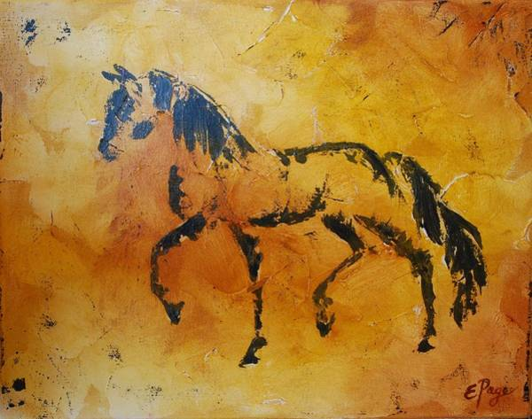 Painting - Cave Drawing Horse by Emily Page