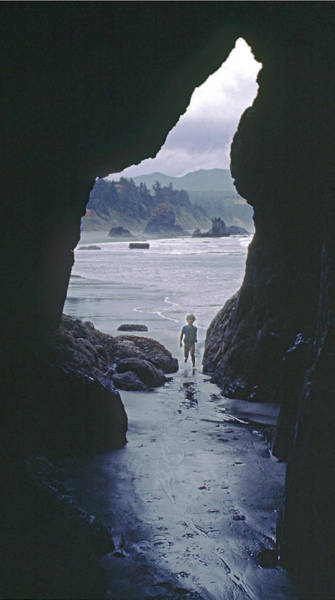 Photograph - Mp-335-cave In Battle Rock Port Orford by Ed  Cooper Photography