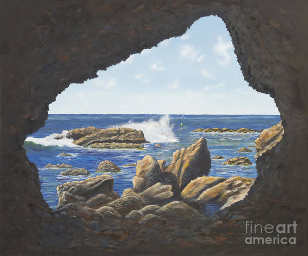 Painting - Cave View by Mary Scott