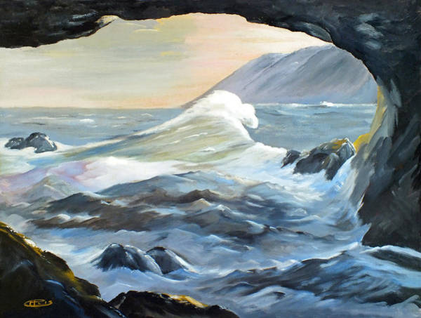 Painting - Cave Wave By Chris by Chris McCullough