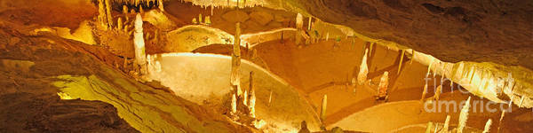 Wall Art - Photograph - Cave With Stalactites And Stalagmites by Rosemary Calvert