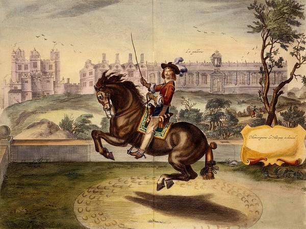 Horseback Drawing - Cavendish Performing Volte by Abraham Jansz. van Diepenbeke