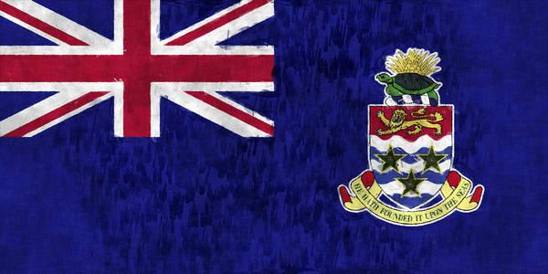 Carribean Islands Digital Art - Cayman Islands Flag by World Art Prints And Designs