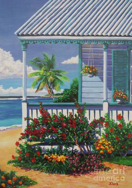 Wall Art - Painting - Cayman Porch by John Clark