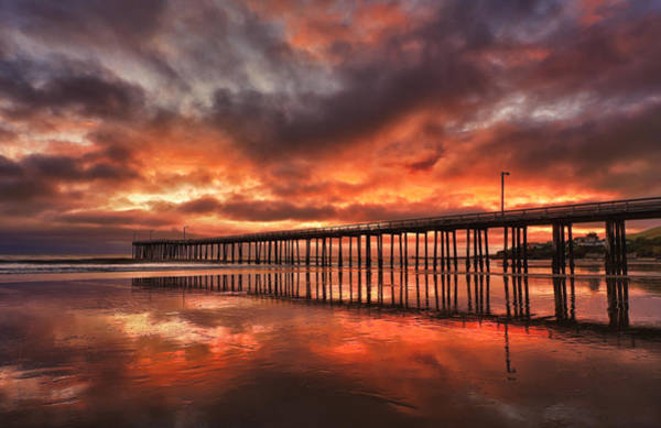 Photograph - Cayucos Pier On Fire by Beth Sargent