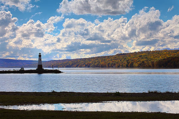 Wall Art - Photograph - Cayuga Lake In Colorful Fall Ithaca New York IIi by Paul Ge