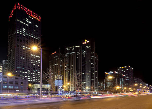 Changan Photograph - Cbd At Night - Beijing China by Brendan Reals