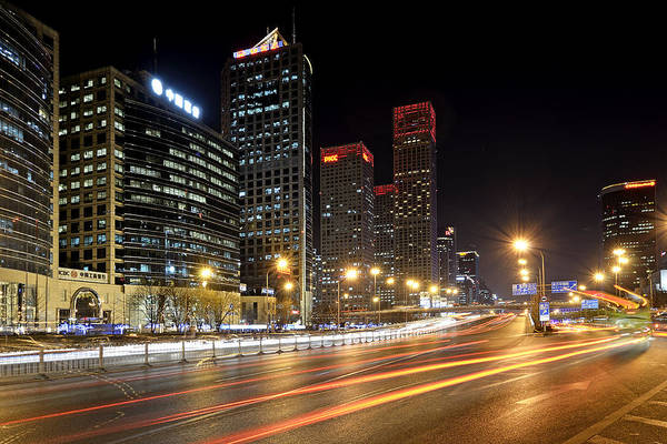 Changan Photograph - Cbd - Beijing China At Night by Brendan Reals