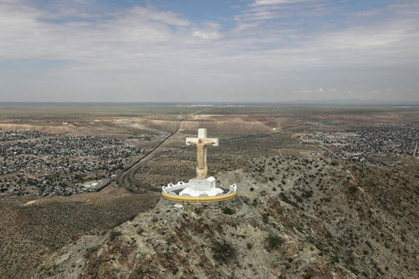 Setting Photograph - Cbp Conducts Aerial Patrols Over El by John Moore