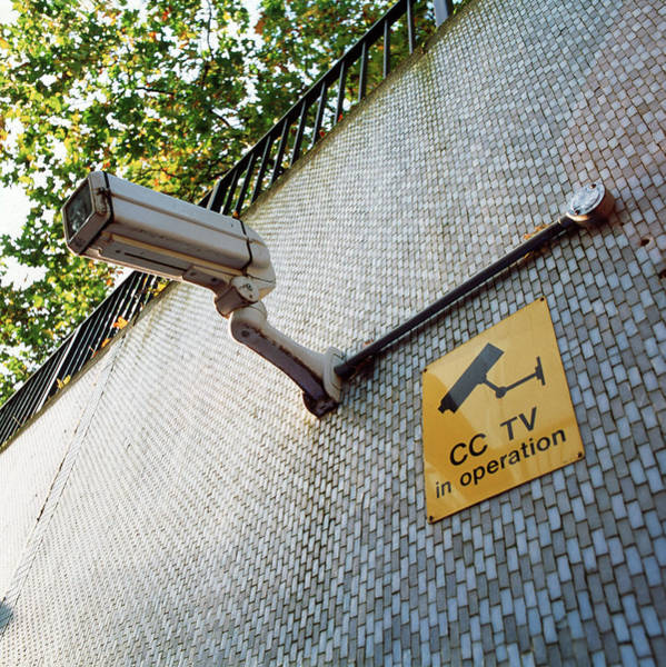 Surveillance Wall Art - Photograph - Cctv Camera by Jerry Mason/science Photo Library