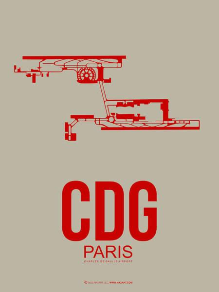 Paris Digital Art - Cdg Paris Airport Poster 2 by Naxart Studio