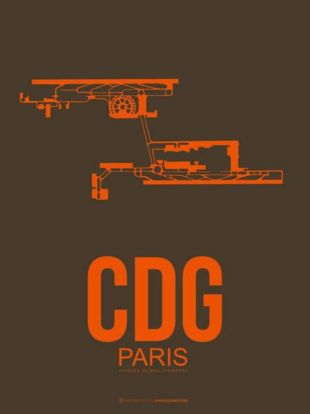 Paris Digital Art - Cdg Paris Airport Poster 3 by Naxart Studio