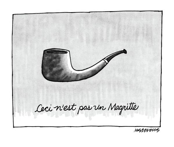 Wall Art - Drawing - Ceci N'est Pas Un Magritte. Picture Of A Pipe by Mick Stevens