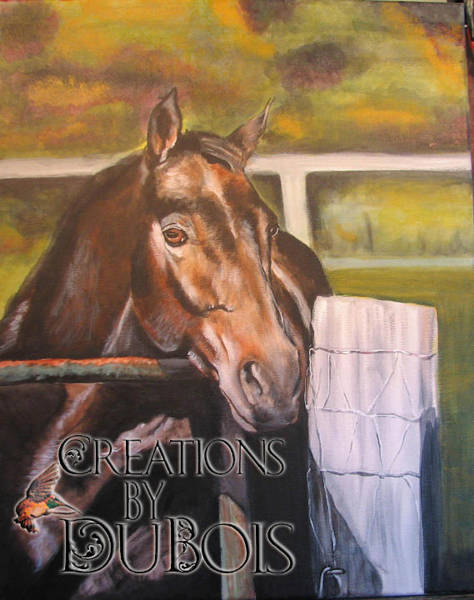 Aqha Painting - Cecil by Creations by DuBois
