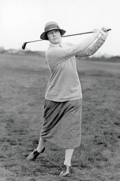 Golf Club Photograph - Cecil Leitch Swinging A Golf Club by Wide World Photos