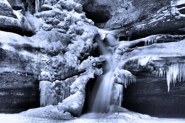 Hocking Hills Photograph - Cedar Falls In Winter by Dan Sproul