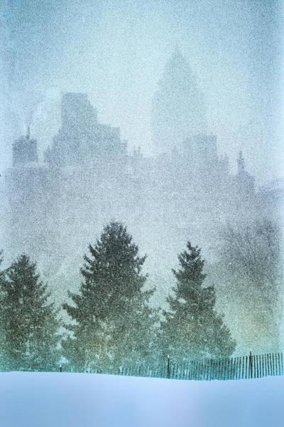 Photograph - Cedar Hill Snowy Central Park by Dave Beckerman