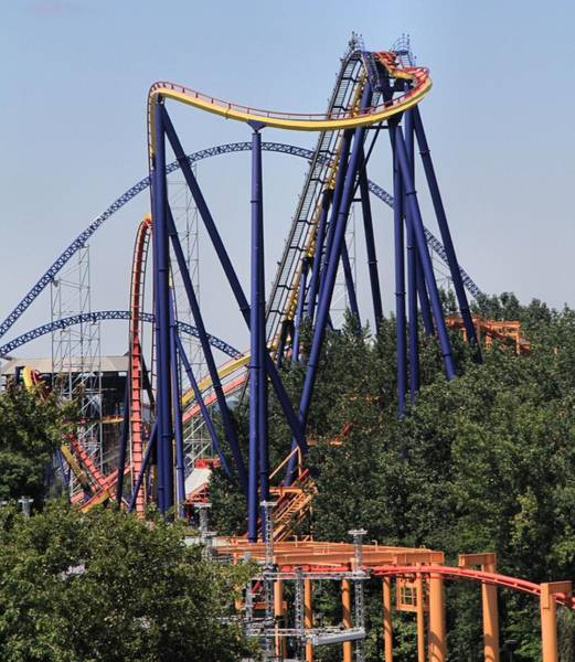Photograph - Cedar Point Roller Coasters by Dan Sproul