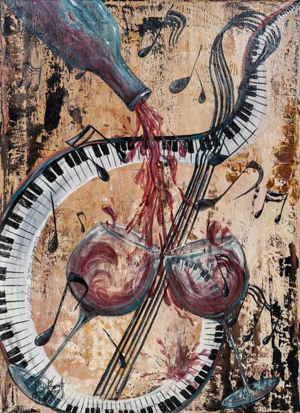Musical Theme Painting - Celebrate Life by Christi Barrett