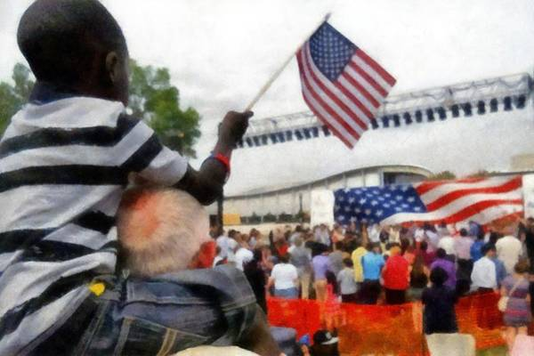 Photograph - Celebrating Citizenship by Michelle Calkins