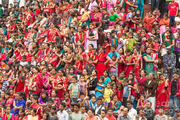 Photograph - Celebrating The Teej Festival In Kathmandu In Nepal by Didier Marti