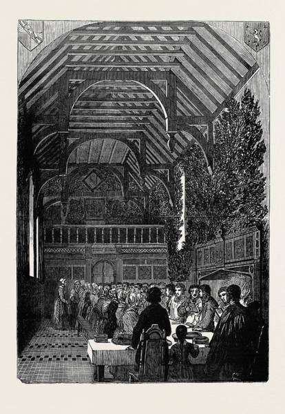 Wall Art - Drawing - Celebration Of Palm Sunday In The Hall Of Sackville College by English School