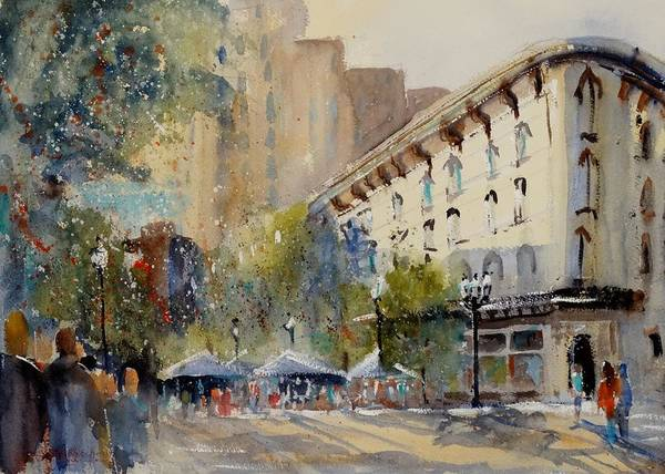 Grand Rapids Painting - Celebration On The Grand by Sandra Strohschein