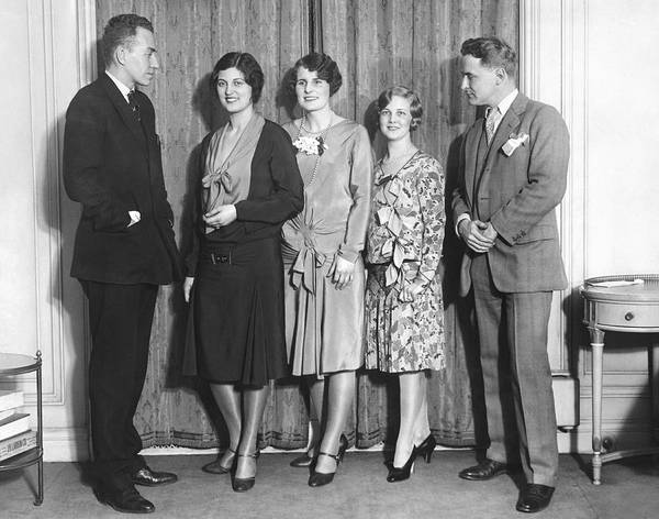 Businessman Photograph - Celebrity Beauty Contest Judge by Underwood Archives