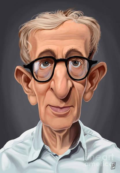 Digital Art - Celebrity Sunday - Woody Allen by Rob Snow